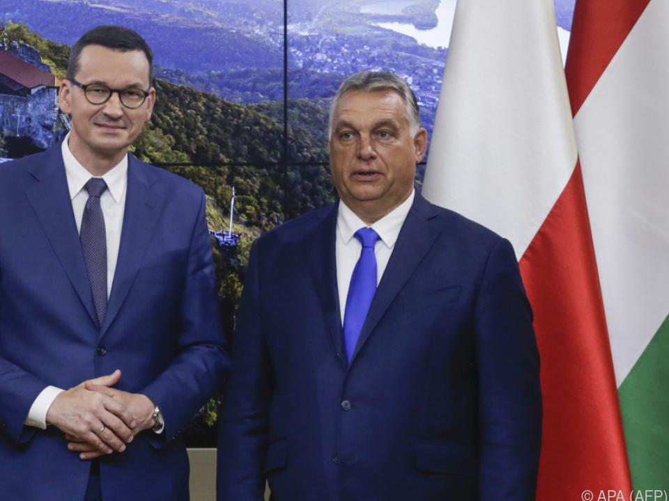 Die Regierungschefs von Polen und Ungarn wurden überstimmt