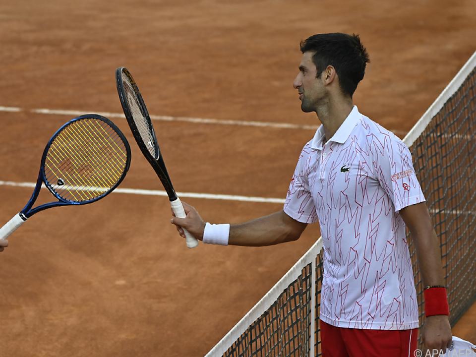 Djokovic siegte in zwei Sätzen gegen Ruud