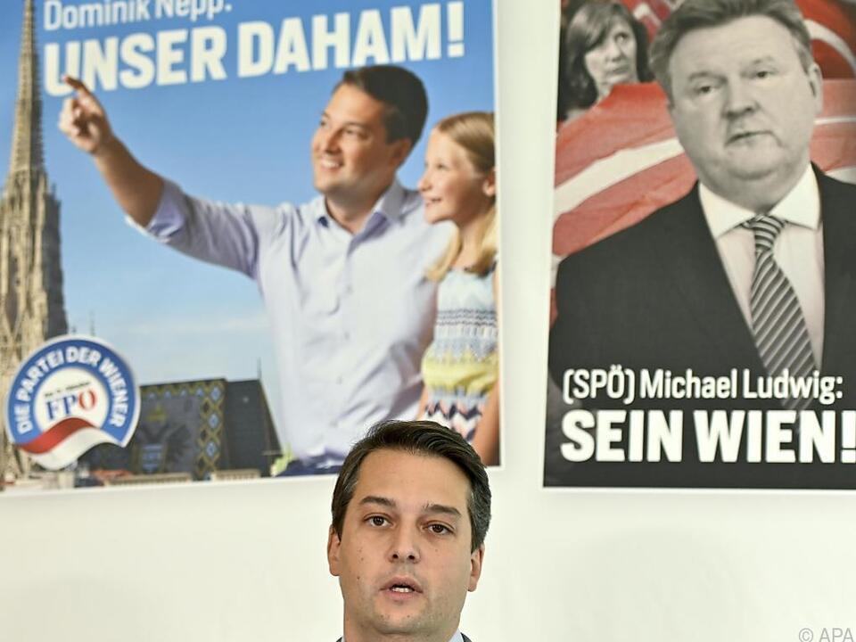 Dominik Nepp, FPÖ-Spitzenkandidat bei der Wien-Wahl