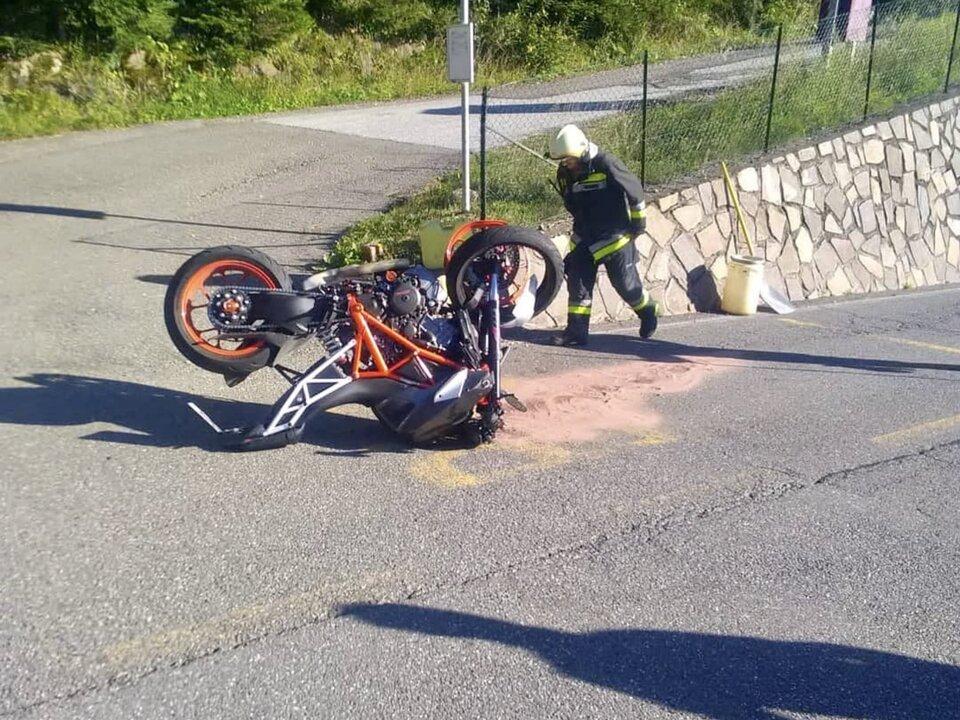 Unfall Motorrad FF Gummer