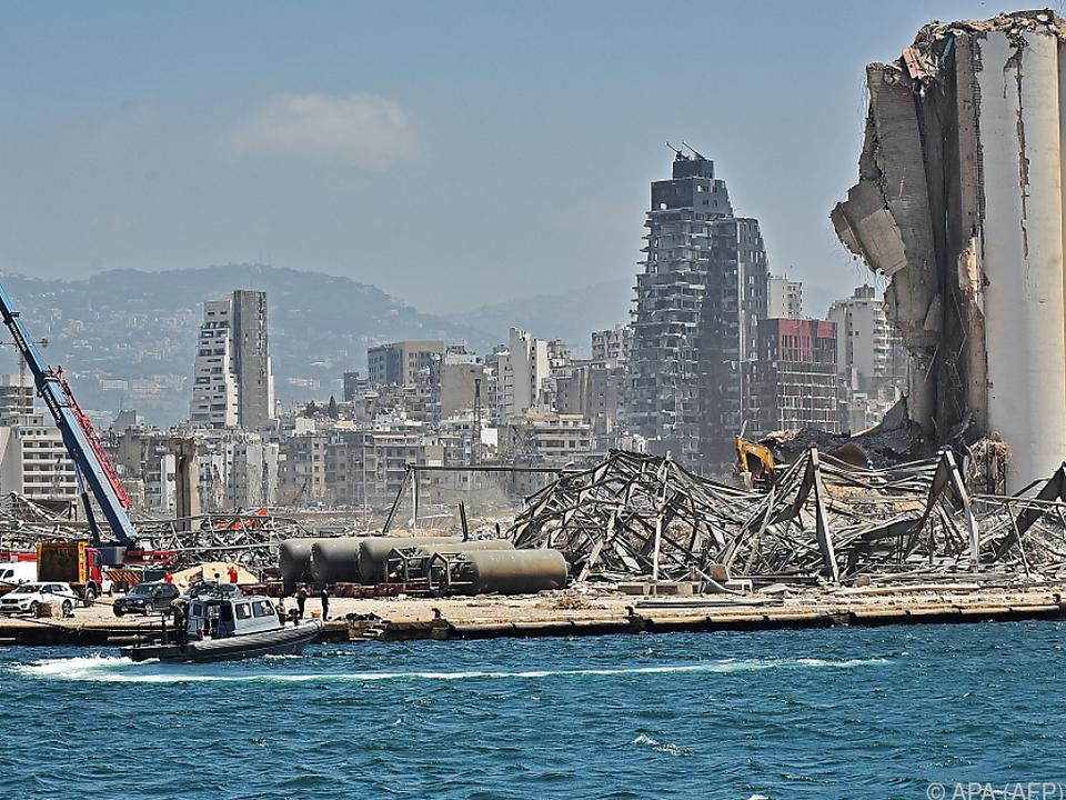 Explosion im Hafen zerstörte große Teile Beiruts