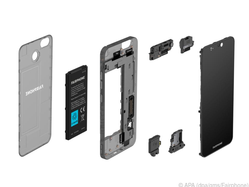 Das Fairphone 3+ ist aus wenigen wechselbaren Modulen aufgebaut