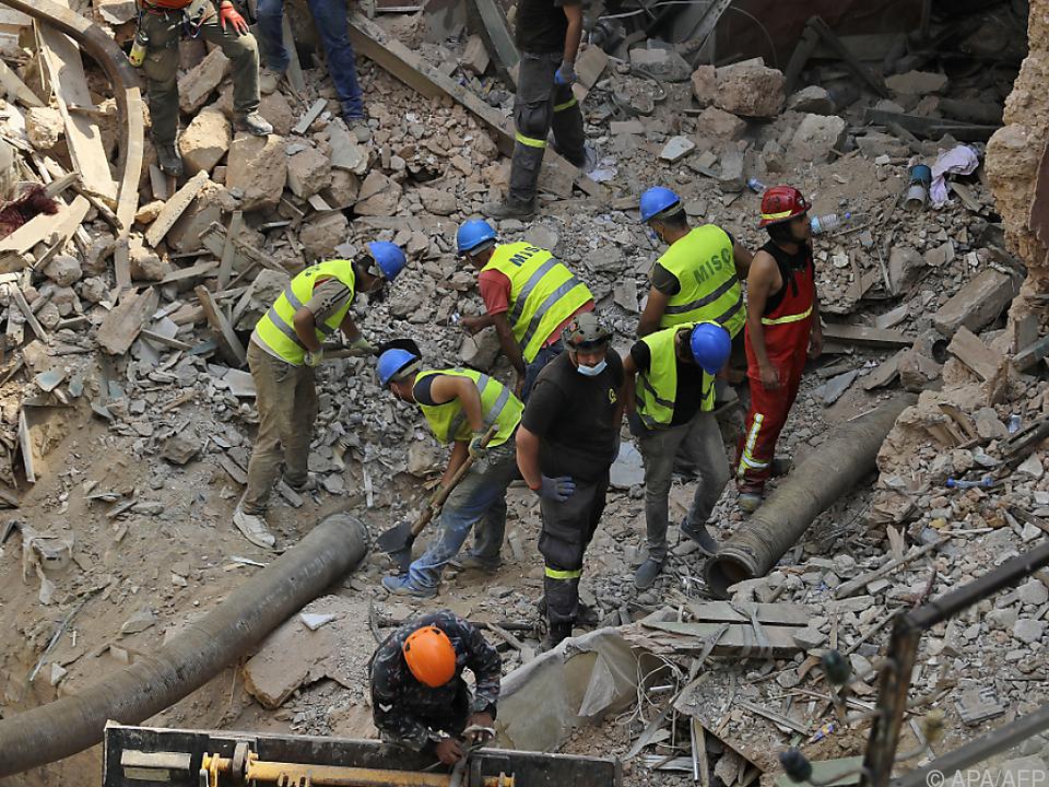 Fieberhafte Suche nach Überlebenden in Beirut
