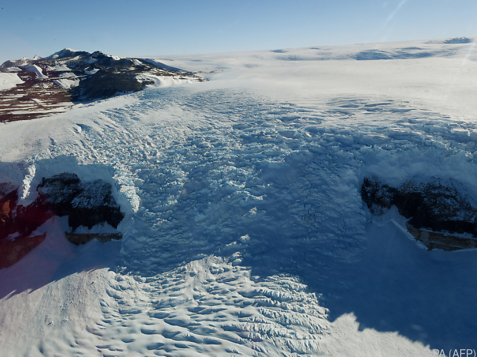 Gletscherbewegung nahe der McMurdo-Station