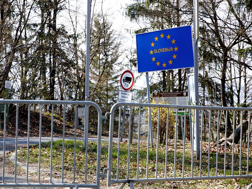 Grenze zwischen Slowenien und Österreich