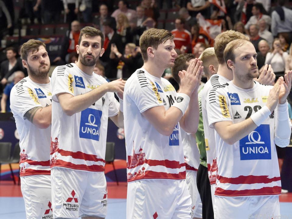 Handball-Team bei der erfolgreichen Heim-EM 2020 in Wien