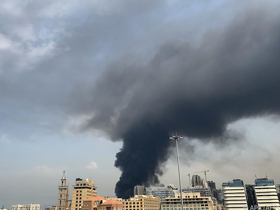 Im Hafen von Beirut ist wieder ein Brand ausgebrochen