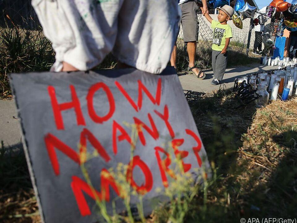 Immer wieder werden Afroamerikaner bei Polizeieinsätzen erschossen