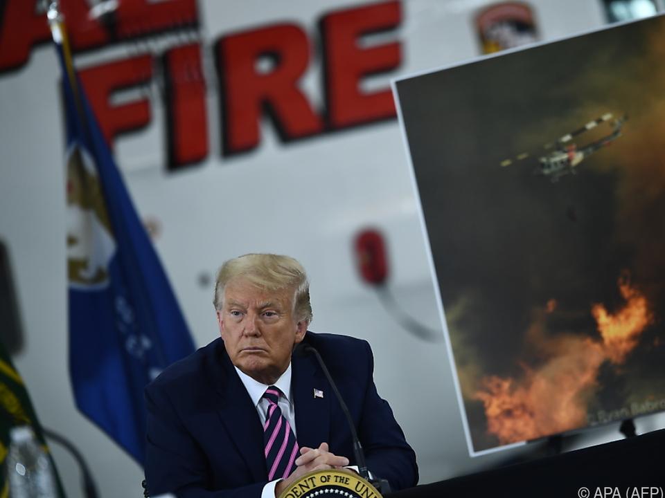 In Österreich könne es verheerende Waldbrände nicht geben, so Trump