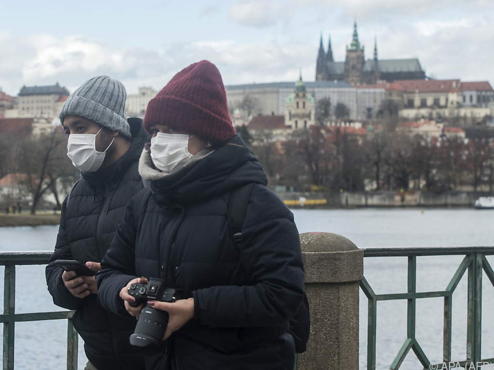 In Tschechien steigt die Zahl der mit dem Coronavirus Infizierten