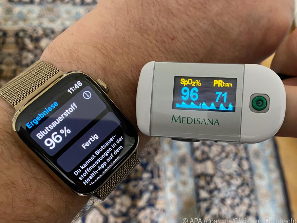 Die Series 6 kann Puls und Blutsauerstoff messen und auch ein EKG erstellen