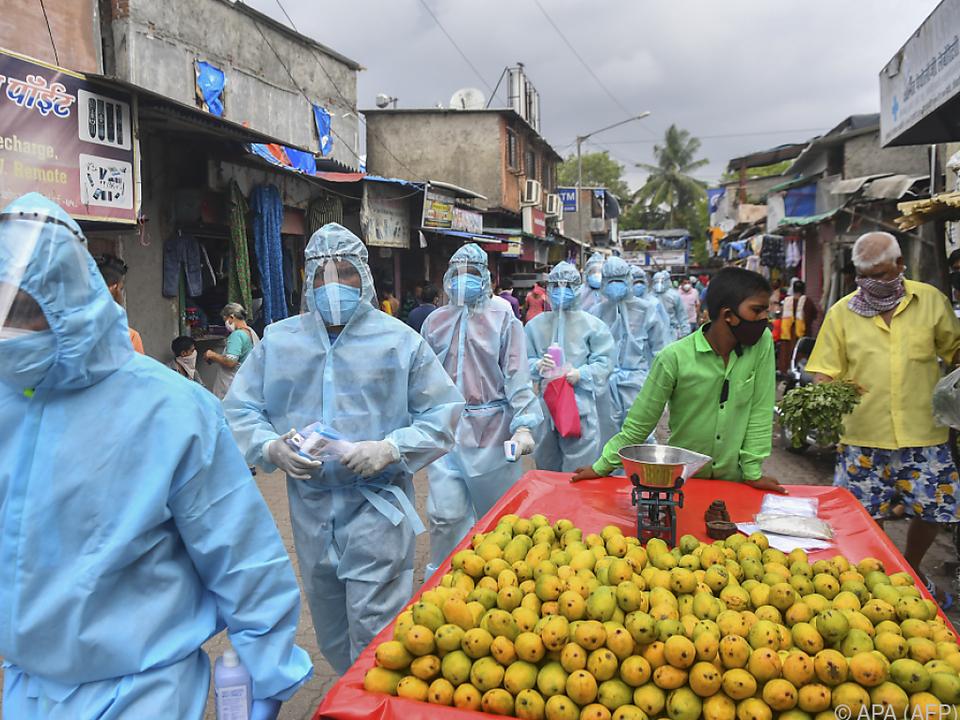 Kampf gegen das Coronavirus in Indien