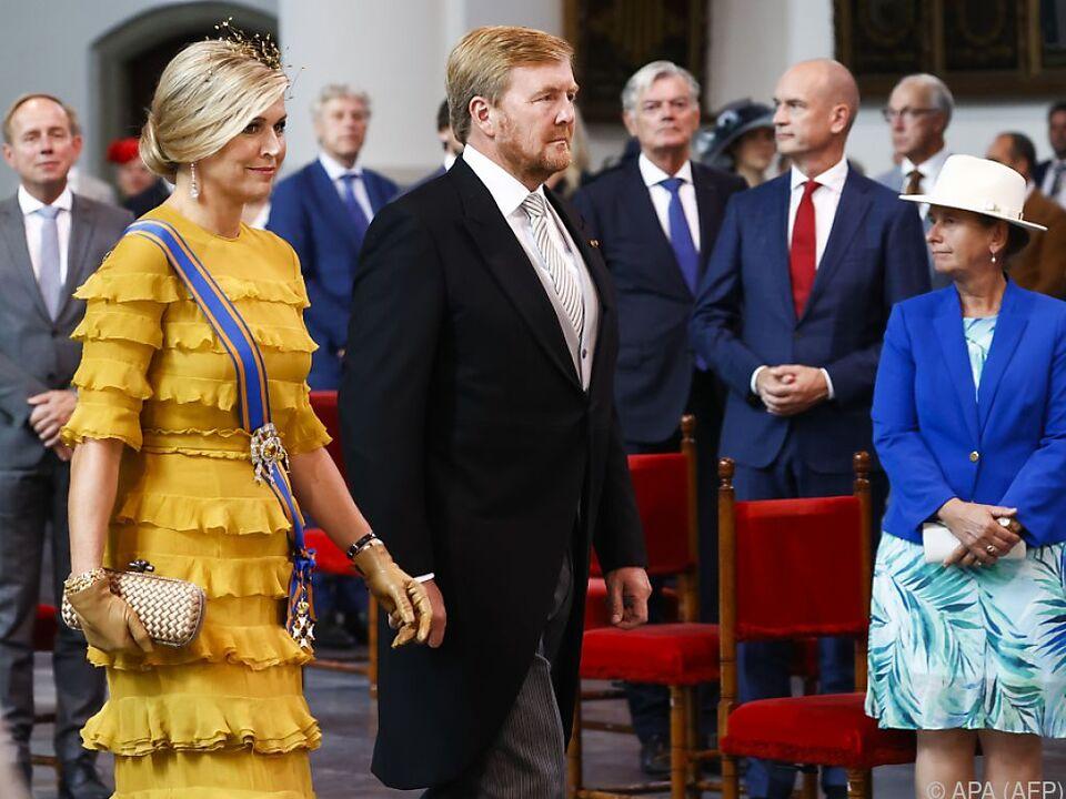 König Willem-Alexander schwört das Volk auf harte Zeiten ein