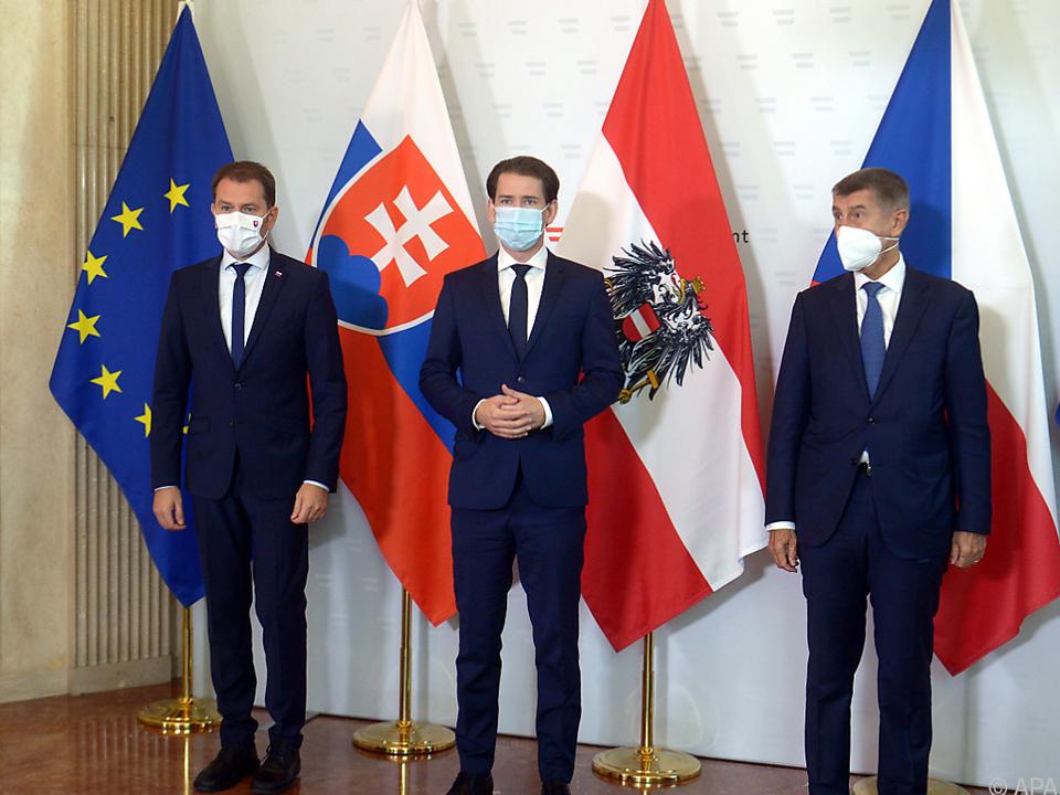 Kurz empfing Amtskollegen aus Prag und Bratislava