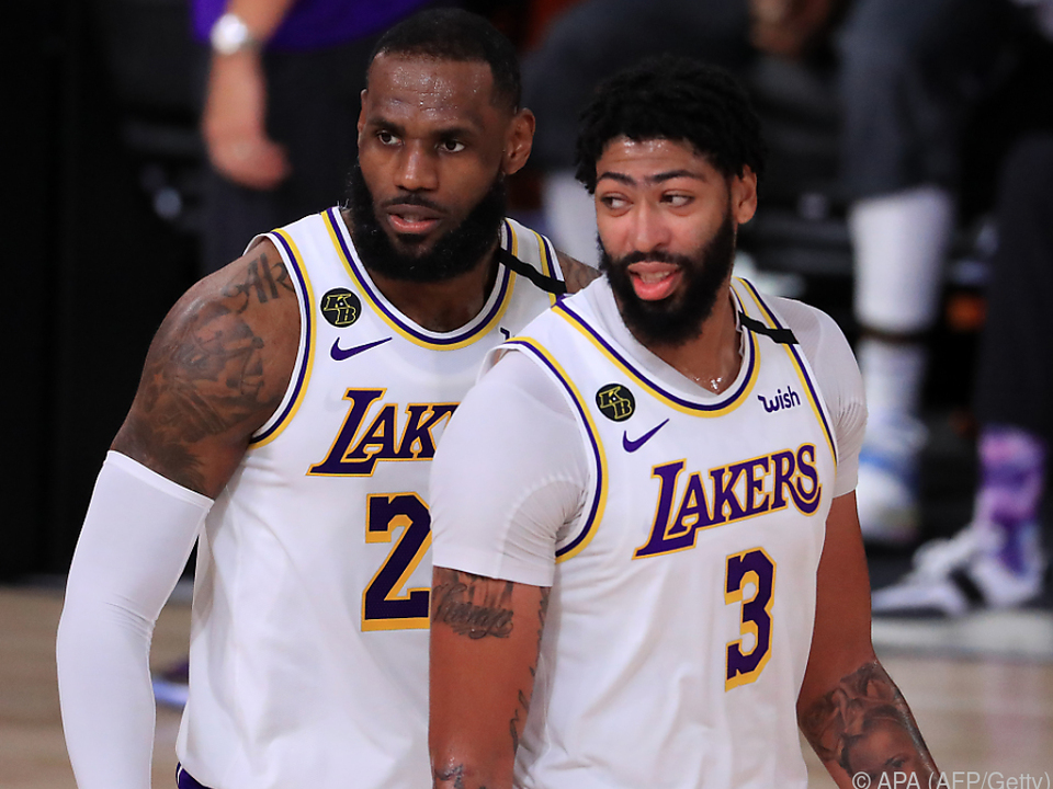 Lakers-Stars LeBron James und Anthony Davis