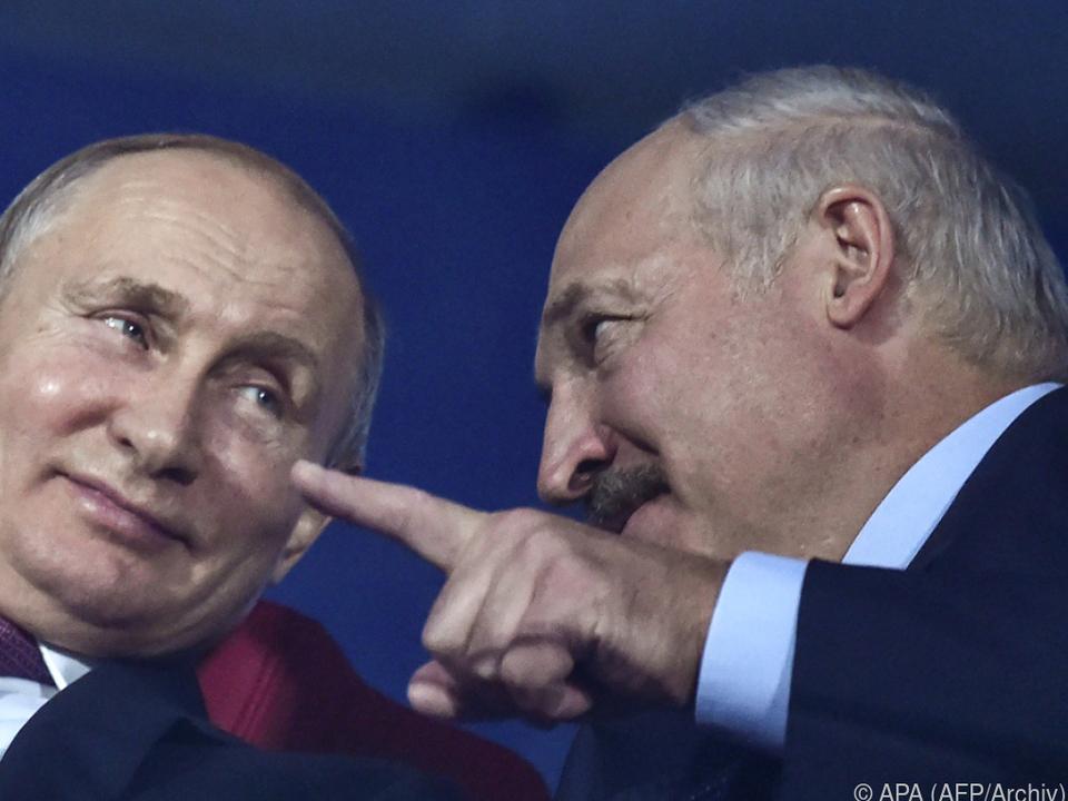 Lukaschenko (r) war in Russland zu Besuch