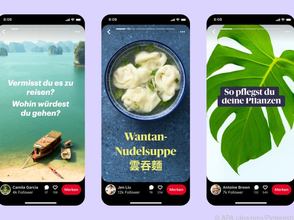 Mit einer neuen Story-Funktion will die Plattform Pinterest interaktiver werden