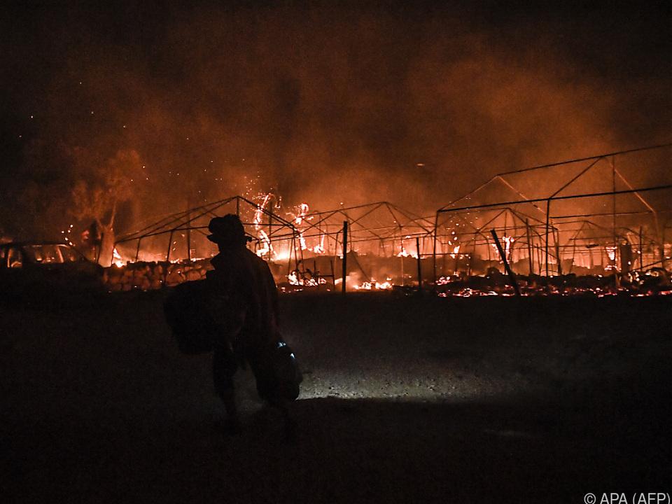 Neue Brände im Lager Moria auf Lesbos
