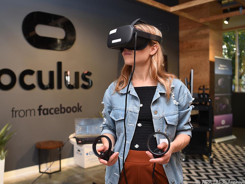 Oculus-Brillen öffnen eine \