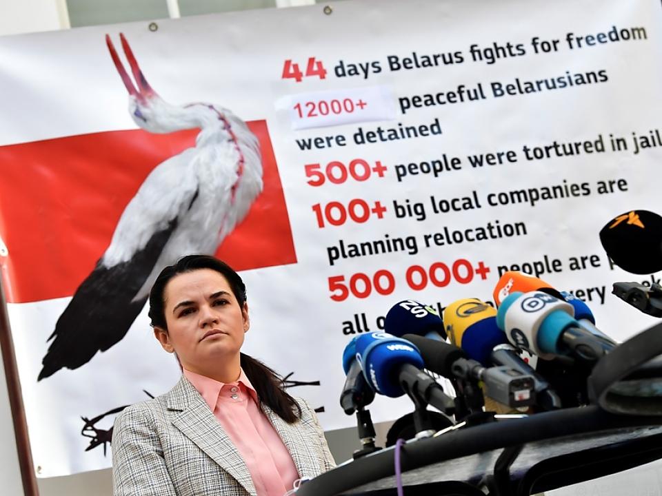 Oppositionspolitikerin Tichanowskaja setzt Lukaschenko unter Druck