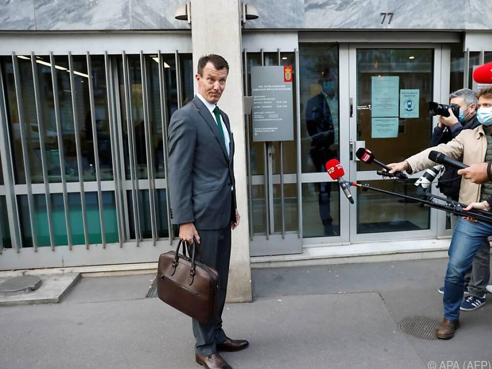 Prinz Joachim auf dem Weg zur Arbeit