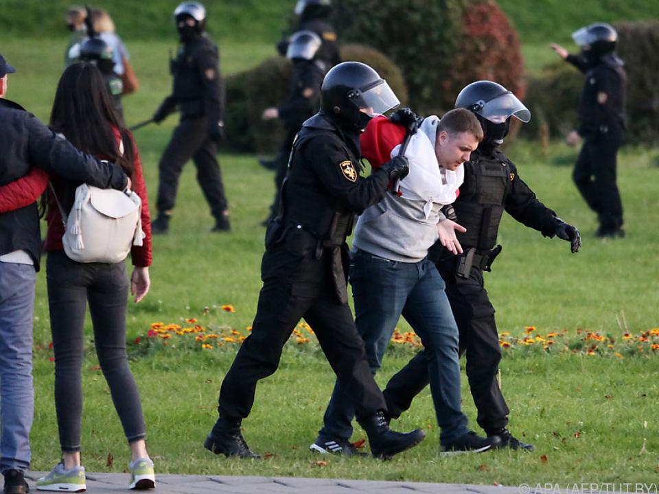 Proteste in Weißrussland gegen erneute Amtszeit von Lukaschenko