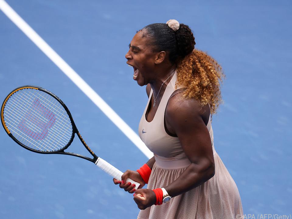 Siegesschrei bei Serena