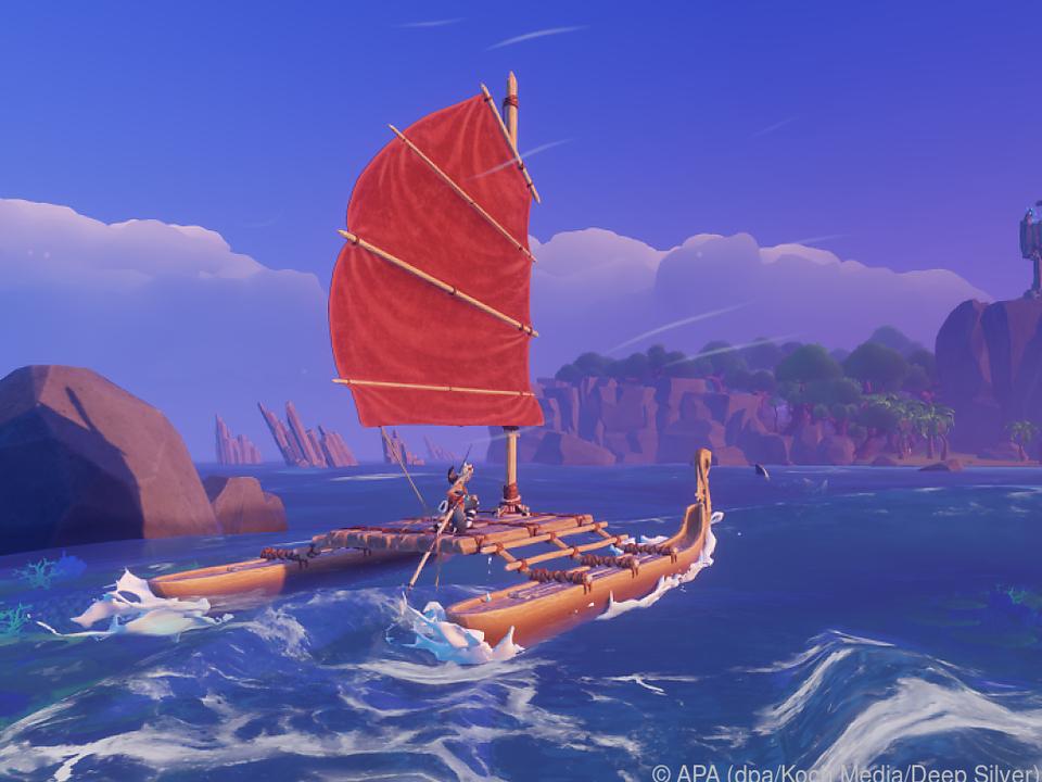 Spielerinnen und Spieler müssen ein Boot bauen und es immer weiter verbessern