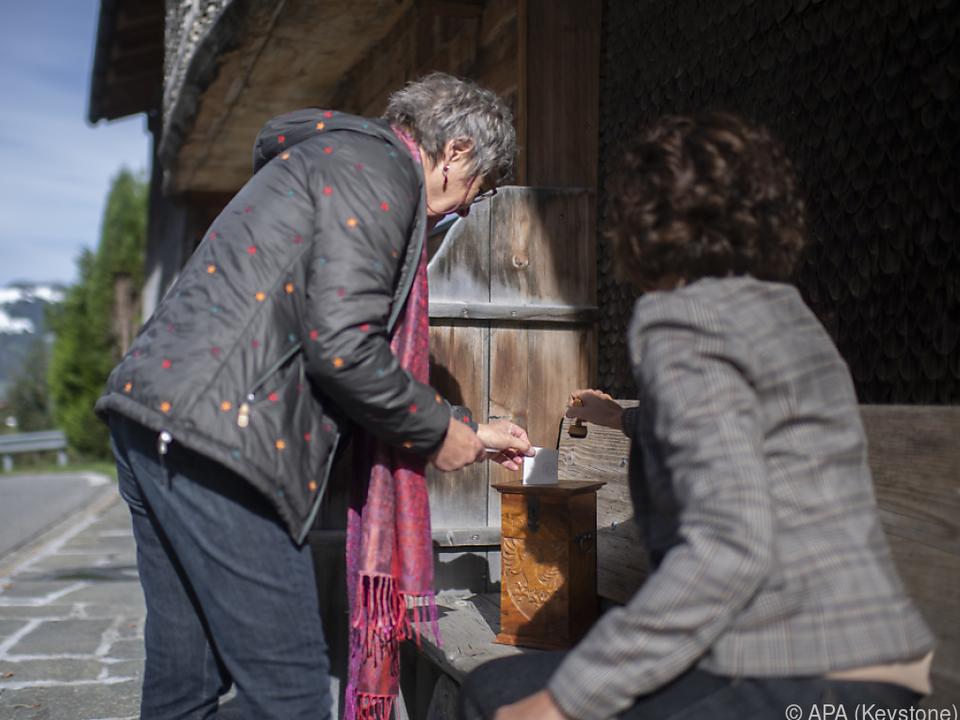 Stimmabgabe auf schweizerisch
