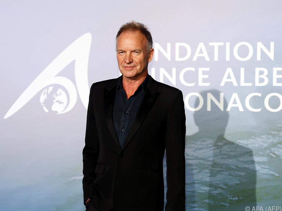 Sting in Monaco für sein Engagement geehrt