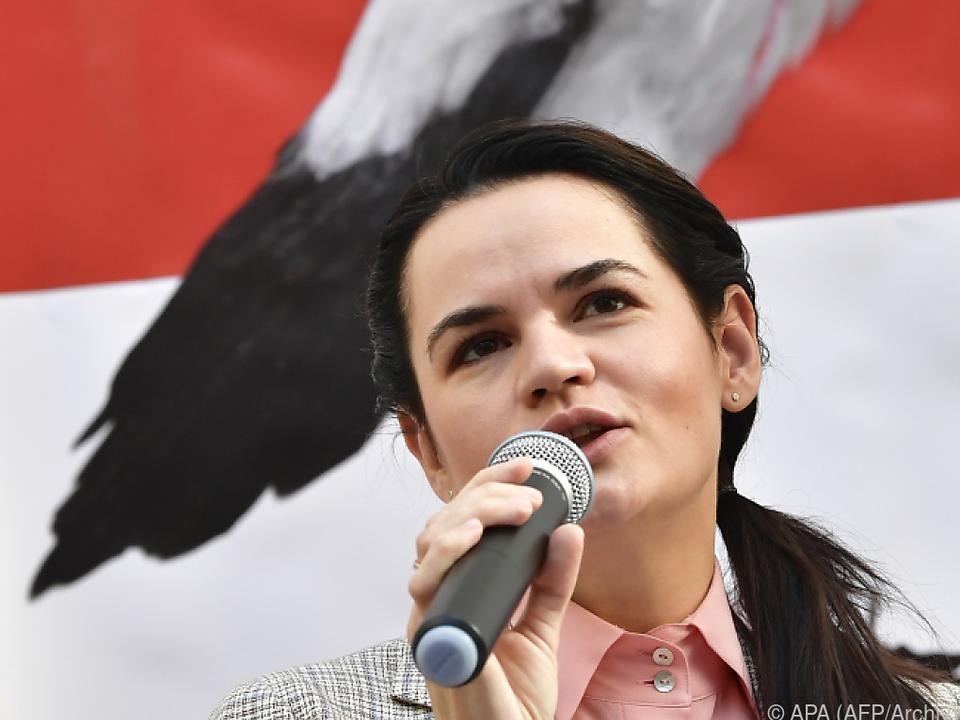 Tichanowskaja sieht sich als Siegerin de Wahl