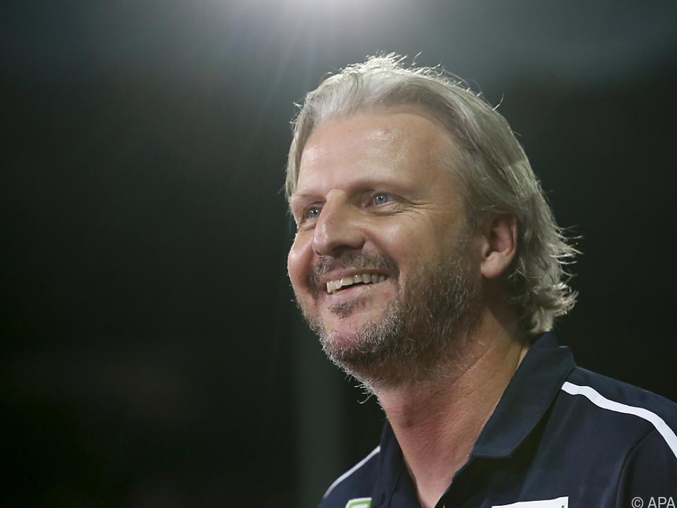 Trainer Markus Schopp sieht die Steirer in der Außenseiterrolle