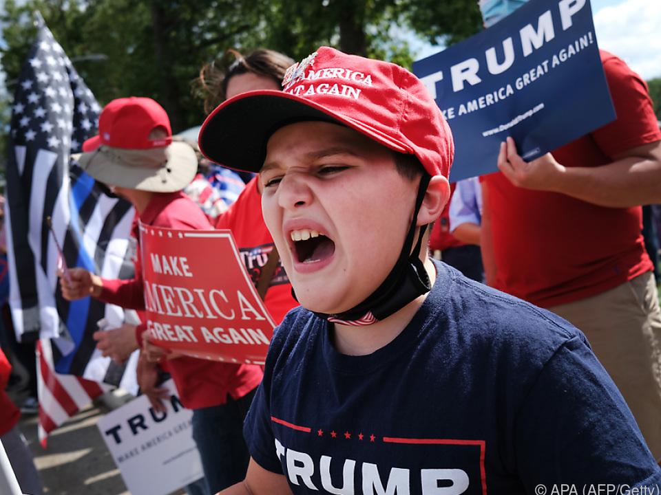 Trumps-Wähler sind schon in Wahlkampfstimmung