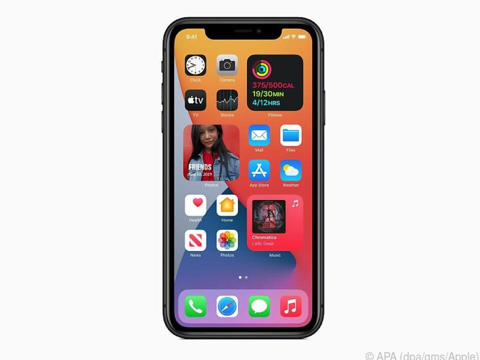 Neue Funktionen: Der iOS-14-Homescreen mit Widgets