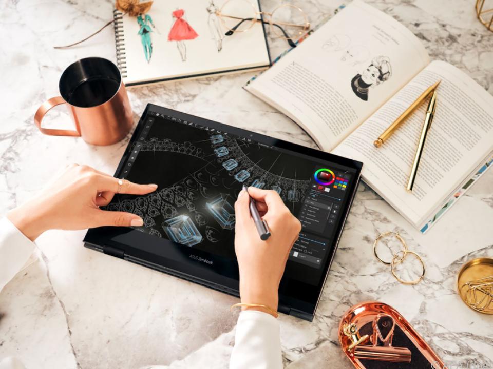 Beim ZenBook Flip S hat Asus auch an die Kreativen gedacht