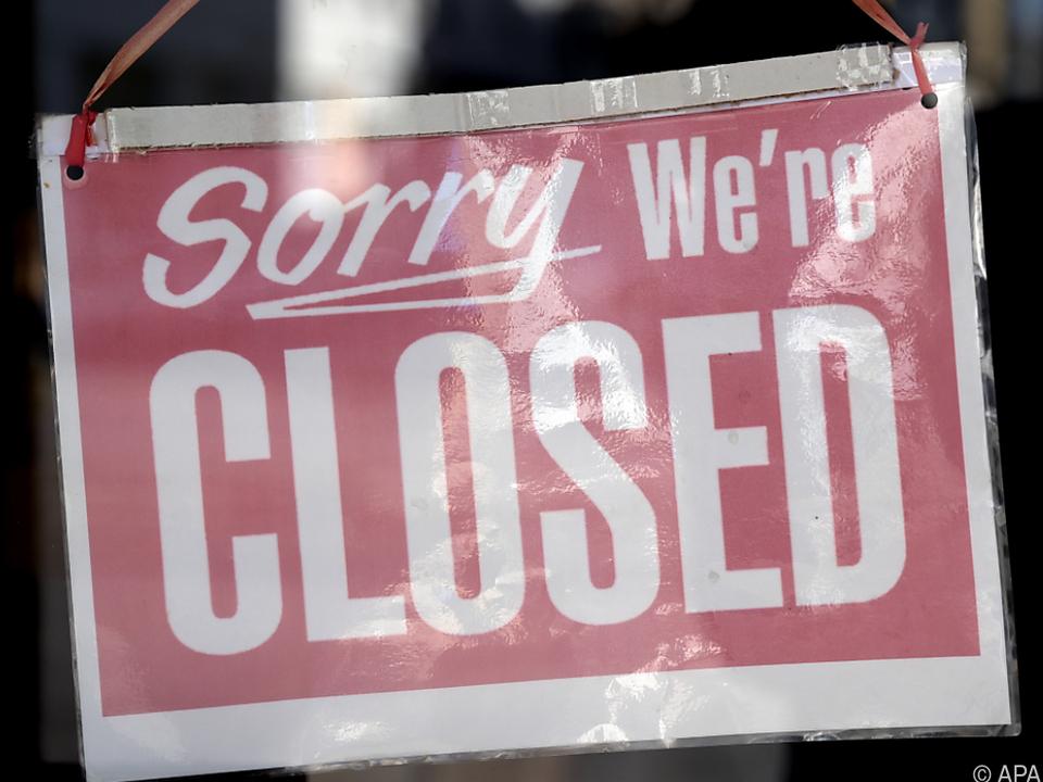 Viele Geschäfte mussten zwangsweise geschlossen halten
