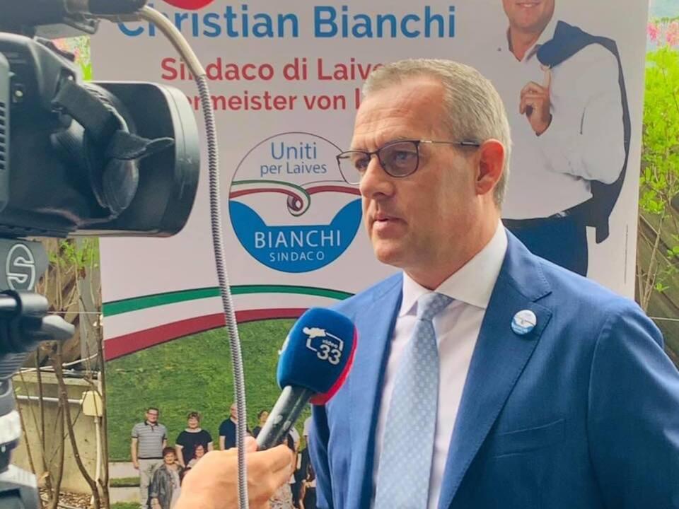 Bürgermeister Leifers Christian Bianchi