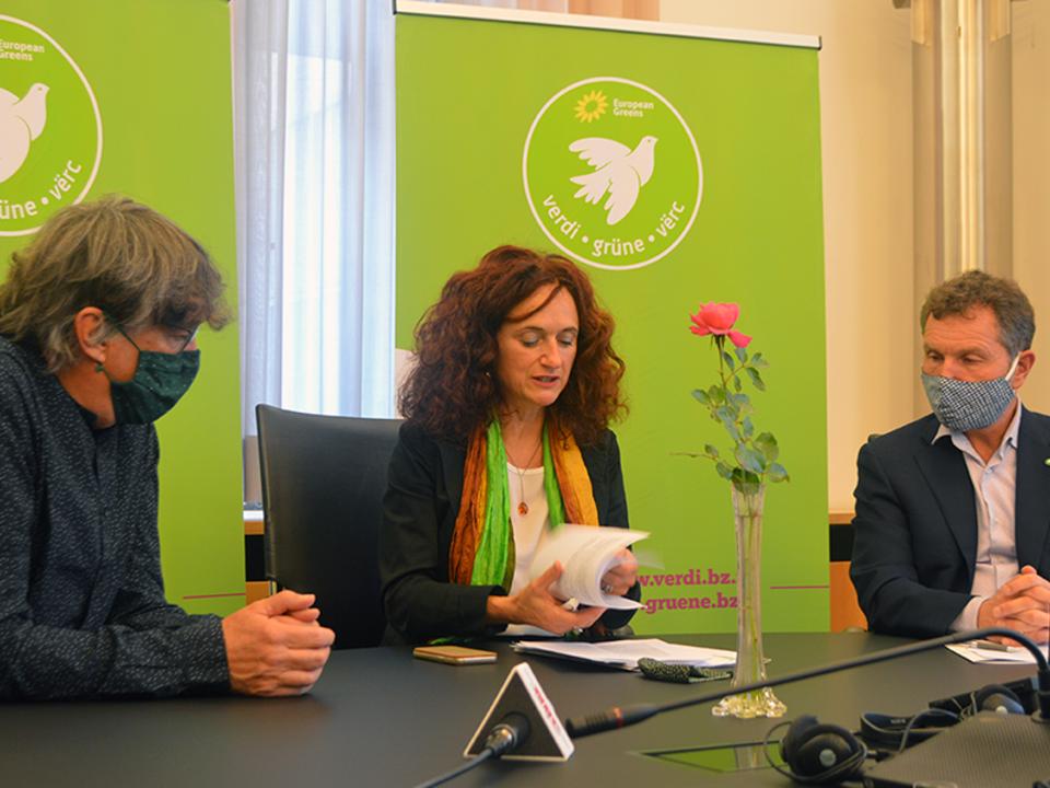 grüne, foppa dello sbarba staffler2020-10-06-Pressekonferenz