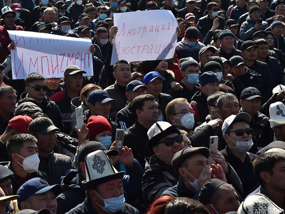 Anhaltende Proteste in Bischkek