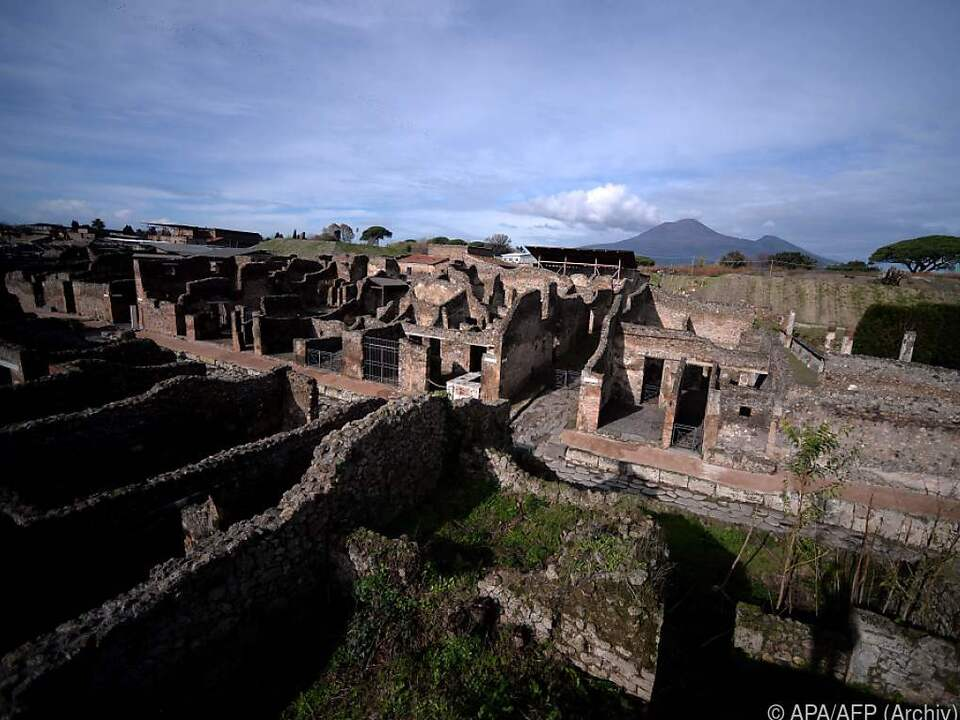 Archäologische Ausgrabungsstätte in Pompeji