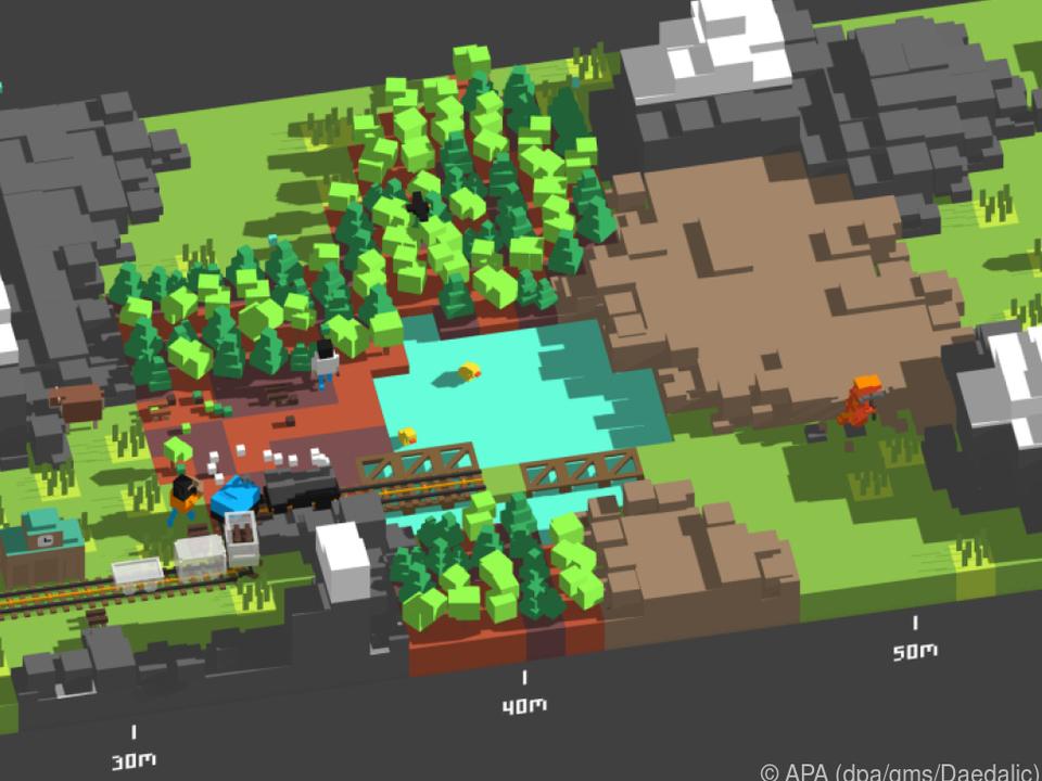 Hindernisse wie diesen Wald können Spieler umfahren - oder die Bäume fällen