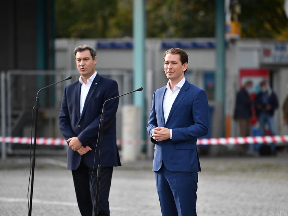 Bundeskanzler Kurz traf Bayerns Ministerpräsident Söder