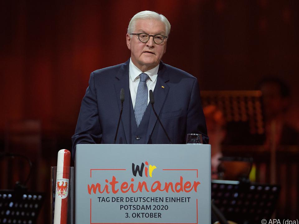 Bundespräsident Frank-Walter Steinmeier bei seiner Festrede
