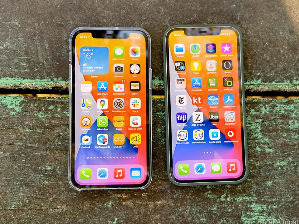 Das iPhone 12 und das 12 Pro verfügen beide über ein OLED-Display