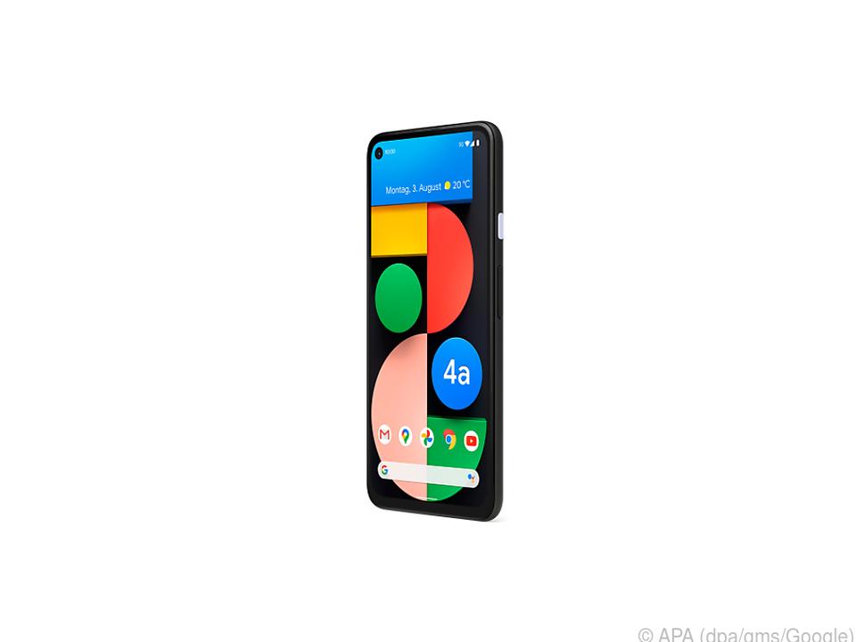 Das Pixel 4a 5G gibt es in Schwarz und mit markantem weißen Einschaltknopf