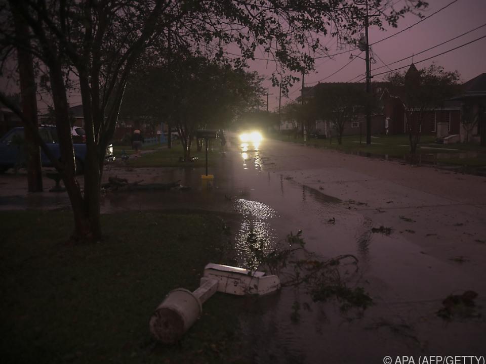 Der Hurrikan fegte über Louisiana hinweg