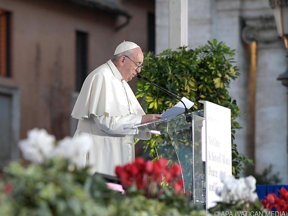 Der Papst findet klare Worte zu einem brisanten Thema