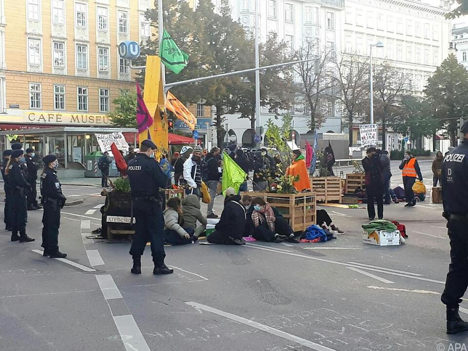 Die Aktivisten fordern ein Gespräch mit Bürgermeister Michael Ludwig