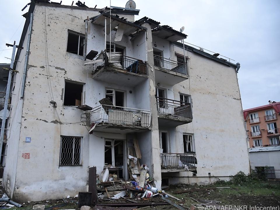 Die Hauptstadt der Region wurde mehrfach mit Raketen beschossen