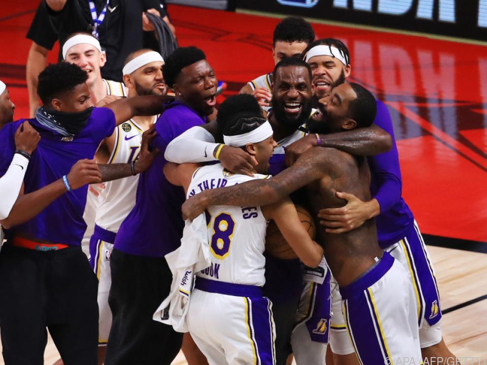 Die Lakers sind am Ziel